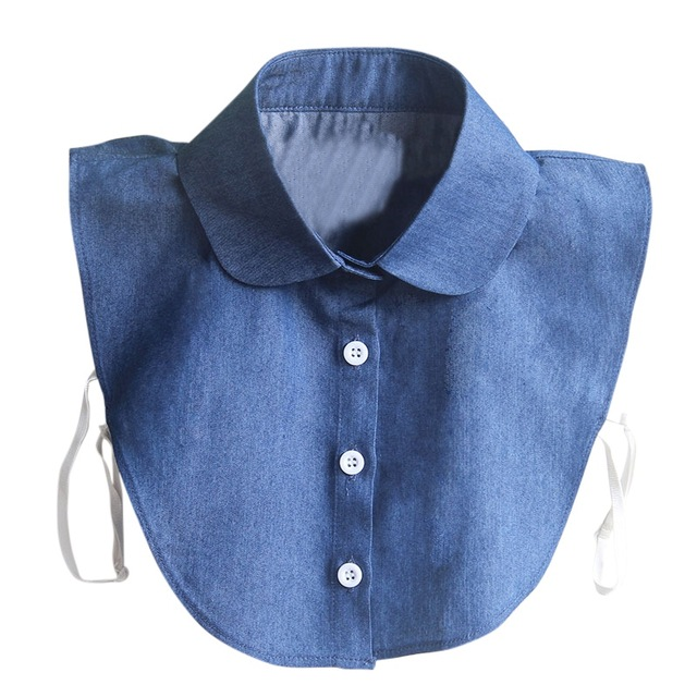 Denim Peter Pan Collar La Boutique
